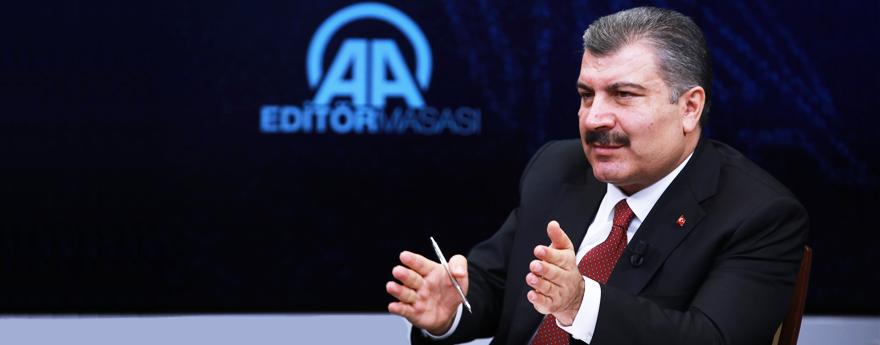 Bakan Koca, Anadolu Ajansı Editör Masası'na Konuk Oldu