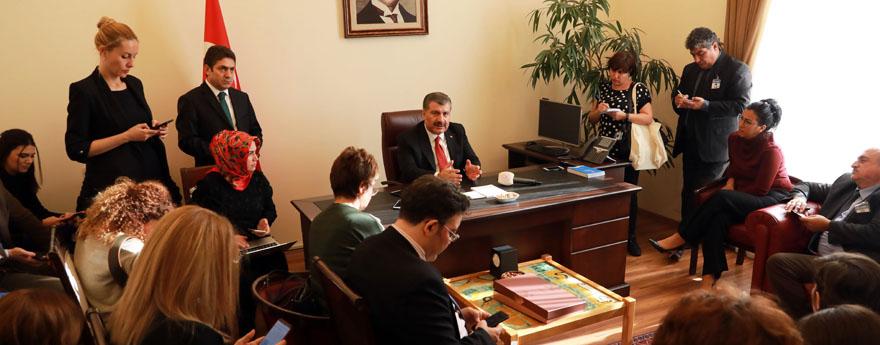 Fahrettin Koca, TBMM'de Parlamento Muhabirleri İle Buluştu