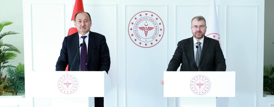Bakan Yardımcısı Eldemir, Kırgız Sağlık Bakanı Beishenaliev'le Görüştü