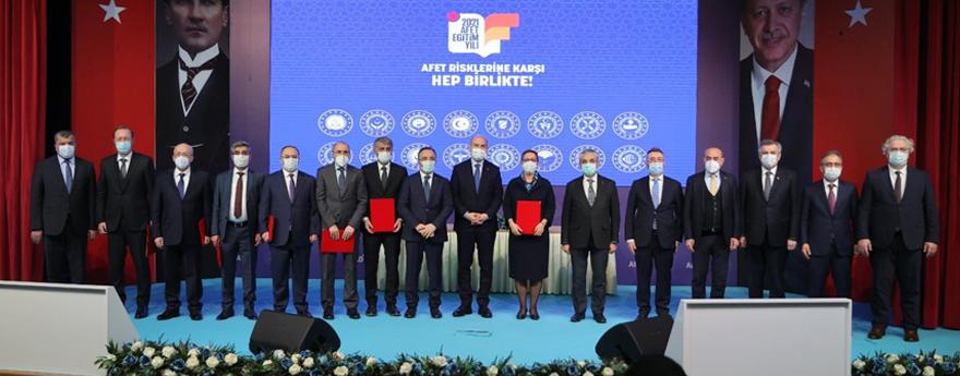 Afet Eğitim Yılı Bakanlıklar Arası İşbirliği Protokolü İmzalandı