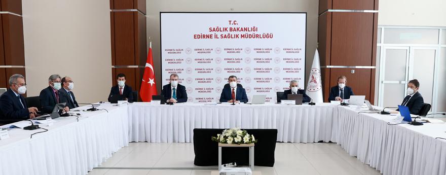 Bakan Koca, 4 İlin Sağlık Yöneticileriyle Edirne'de Bir Araya Geldi